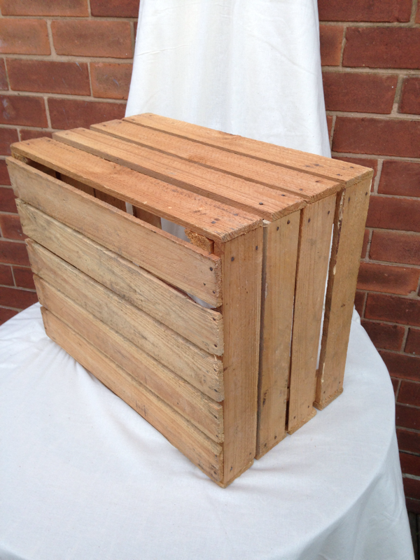 Decorative wooden apple crate - Decorative wooden crates ...